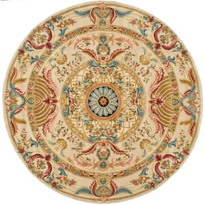 Chaplain Floral Area Rug Rug Size: Round 8