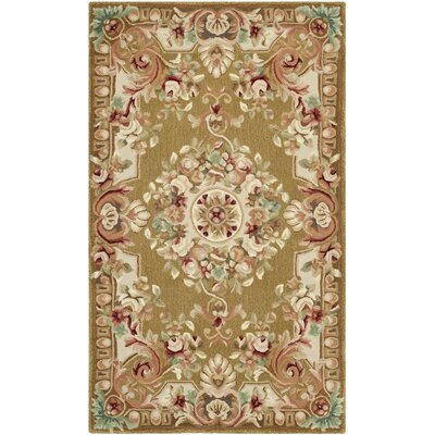 Chaplain Brown/Ivory Rug Rug Size: 3 x 5