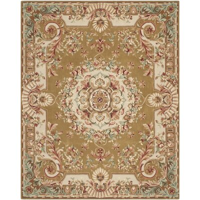 Chaplain Brown/Ivory Rug Rug Size: 6 x 9