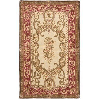 Loren Gold/Red Area Rug Rug Size: 4 x 6