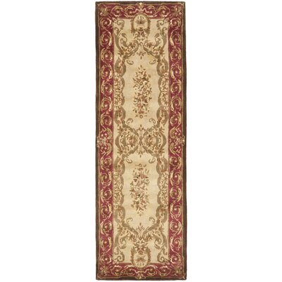 Loren Gold/Red Area Rug Rug Size: Runner 26 x 12