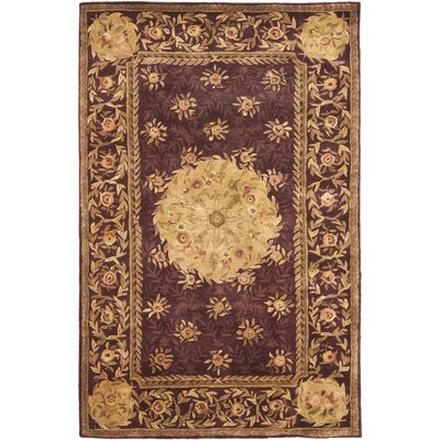 Loren Burgundy Area Rug Rug Size: Rectangle 4 x 6