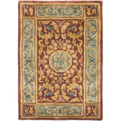 Loren Burgundy/Gold Area Rug Rug Size: Rectangle 8 x 10