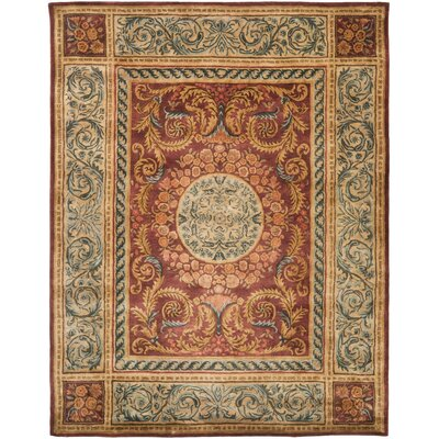 Loren Burgundy/Gold Area Rug Rug Size: Rectangle 83 x 11