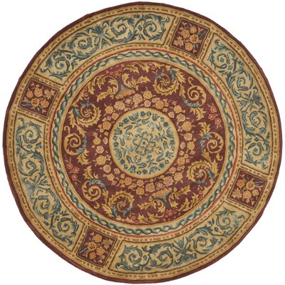 Where to buy loren burgundy gold area rug rug size round 4 39 for Where to buy round rugs