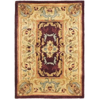 Loren Gold Area Rug Rug Size: 2 x 3