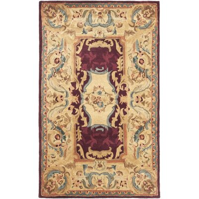 Loren Gold Area Rug Rug Size: 3 x 5