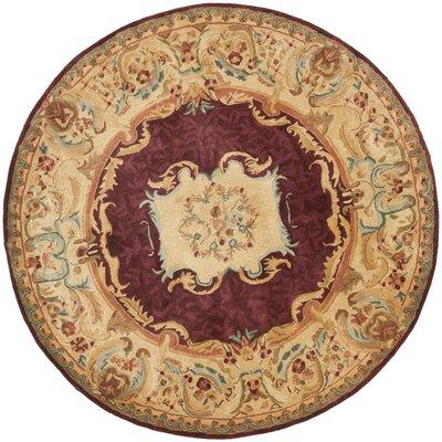 Loren Gold Area Rug Rug Size: Round 4