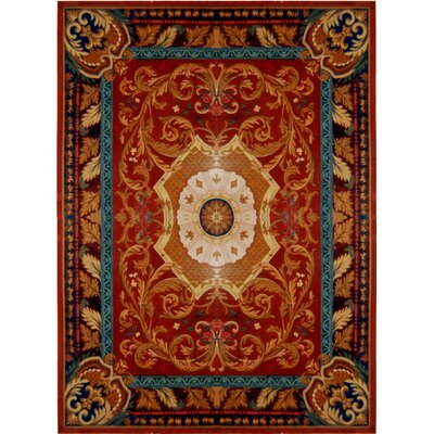 Loren Red/Burgundy Rug Rug Size: Rectangle 9'6