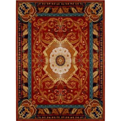 Loren Red/Burgundy Rug Rug Size: 9'6