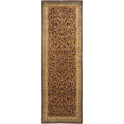 Loren Brown/Blue Area Rug Rug Size: Runner 26 x 8