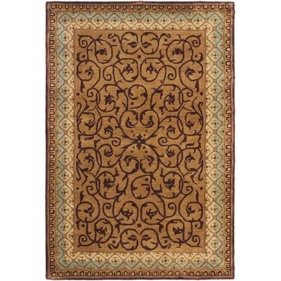 Loren Brown/Blue Area Rug Rug Size: 4 x 6