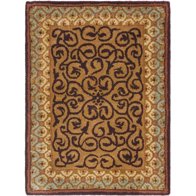 Loren Brown/Blue Area Rug Rug Size: 2 x 3