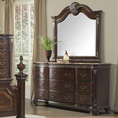 Vista 9 Drawer Dresser with Mirror