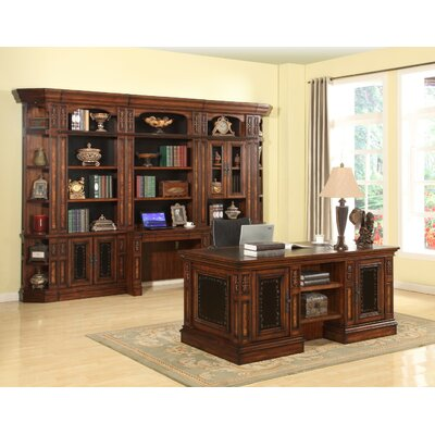 Victoria Executive Desk and Bookcase Wall