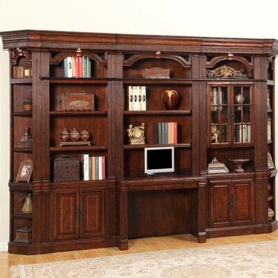 Wakefield 6 Piece Desk and Bookcase Wall