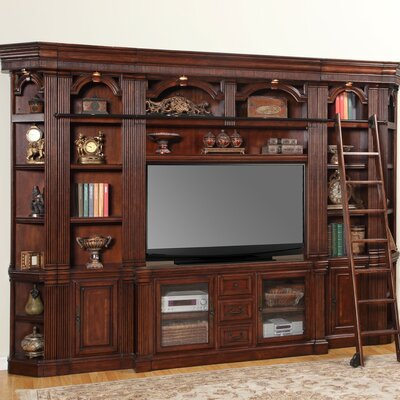 Wakefield 6 Piece SpaceSaver Entertainment Center with Ladder