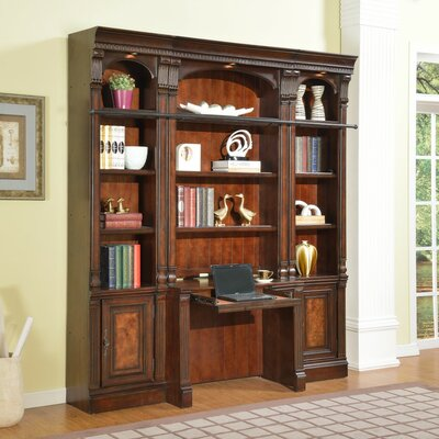Wonderful Library Desk Bookcase Wall Product Photo