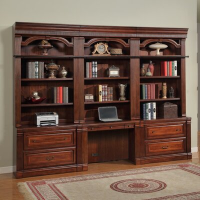 Wakefield Library Executive Desk with Hutch