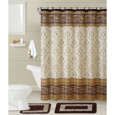 5-Piece Helena Shower Curtain Set