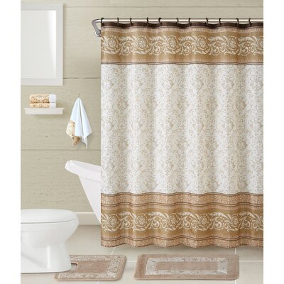 Bardsley 5 Piece Shower Curtain Set Color: Taupe