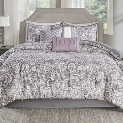 Arterbury 7 Piece Comforter Set Size: King, Color: Purple