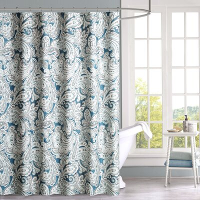 Arterbury Cotton Shower Curtain Color: Blue