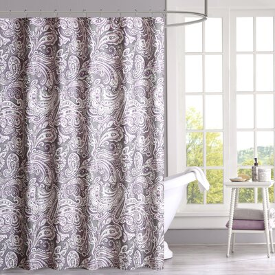 Arterbury Cotton Shower Curtain Color: Purple