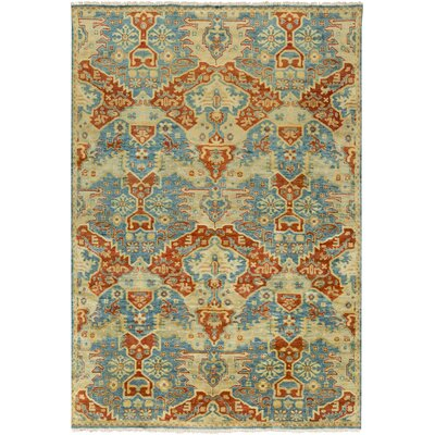 Barfield Rust/Sky Blue Area Rug