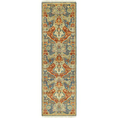 Barfield Hand-Knotted Burnt Orange Area Rug Rug size: Runner 26 x 8