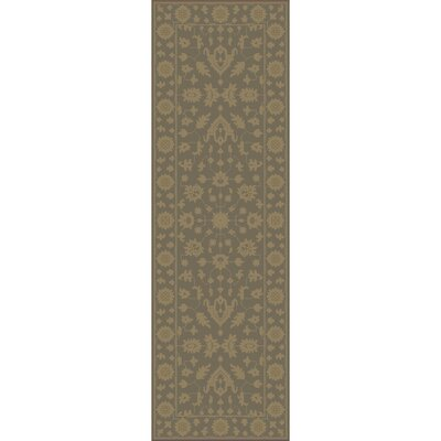 Fulham Hand-Tufted Dark Brown Area Rug Rug size: Runner 26 x 8