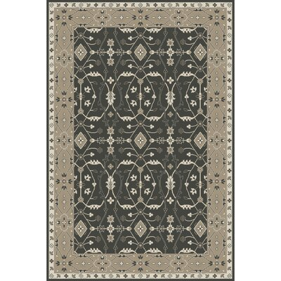 Fulham Hand-Tufted Black/Khaki Area Rug Rug size: Rectangle 6' x 9'