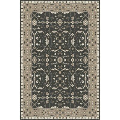 Fulham Hand-Tufted Black/Khaki Area Rug Rug size: 5 x 76