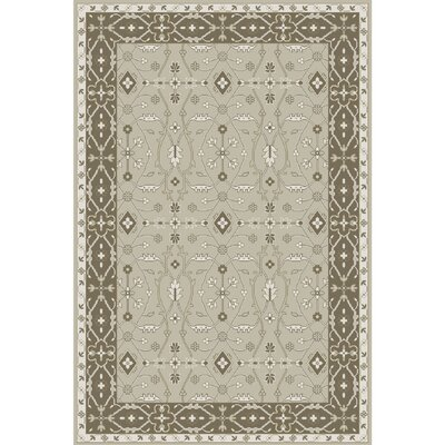 Fulham Hand-Tufted Sea Foam/Tan Area Rug Rug size: 6 x 9
