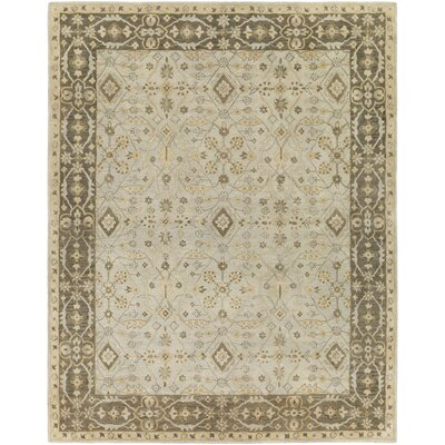 Fulham Hand-Tufted Sea Foam/Tan Area Rug Rug size: 8 x 10