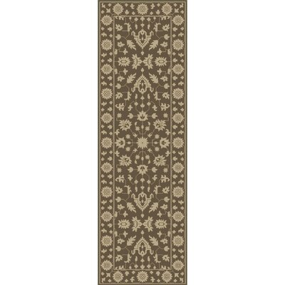 Fulham Hand-Tufted Dark Brown/Khaki Area Rug Rug size: Runner 26 x 8