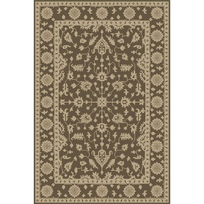 Fulham Hand-Tufted Dark Brown/Khaki Area Rug Rug size: 4 x 6
