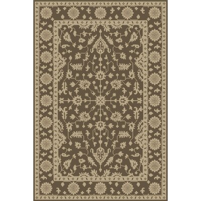 Fulham Hand-Tufted Dark Brown/Khaki Area Rug Rug size: 6 x 9