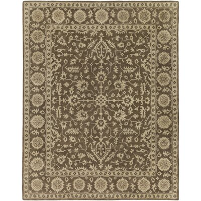 Fulham Hand-Tufted Dark Brown/Khaki Area Rug Rug size: 8 x 10