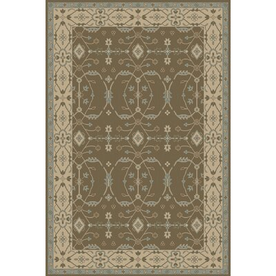 Fulham Hand-Tufted Beige/Aqua Area Rug Rug size: Rectangle 2 x 3