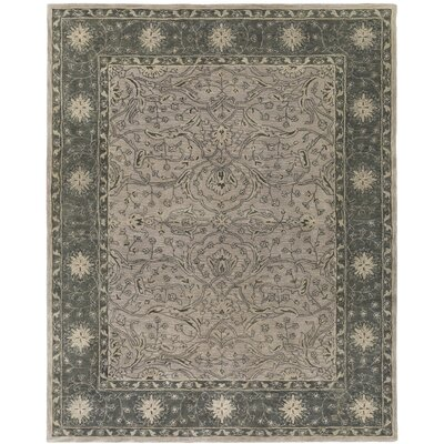Fulham Hand-Tufted Dark Green/Khaki Area Rug Rug size: 8 x 10