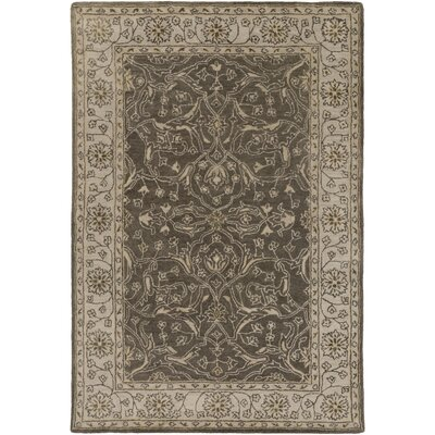Fulham Hand-Tufted Taupe Area Rug Rug Size: Rectangle 5 x 76
