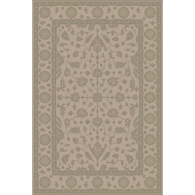 Fulham Hand-Tufted Khaki Area Rug Rug size: Rectangle 4 x 6