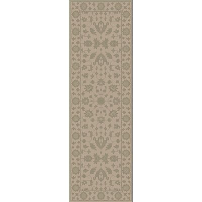 Fulham Hand-Tufted Khaki Area Rug Rug size: Runner 26 x 8
