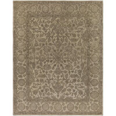 Fulham Hand-Tufted Khaki Area Rug Rug size: Rectangle 8 x 10