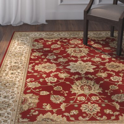 Bergues Red Wine Area Rug Rug Size: 67 x 98