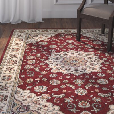 Vincent Ruby/Ivory Area Rug