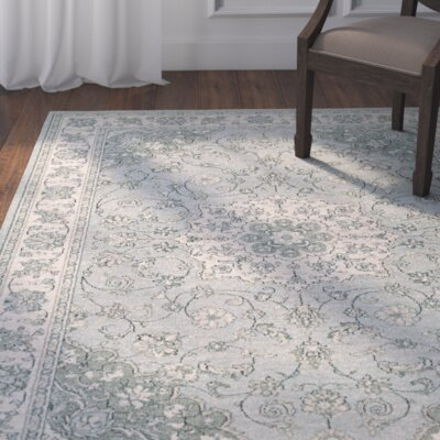 Vincent Light Blue/Ivory Area Rug