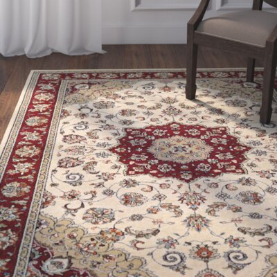 Vincent Ivory/Ruby Area Rug