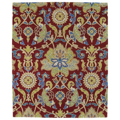 Barkell Red/Green Area Rug Rug Size: 8 x 11
